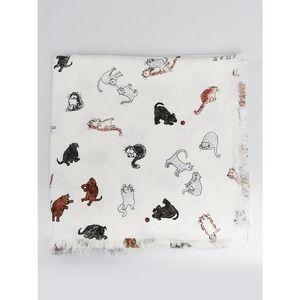 LOUIS VUITTON Catogram cat shawl scarf Coddington